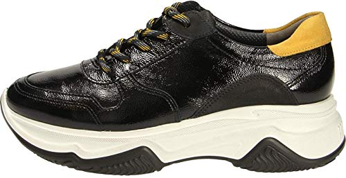 Paul Green 4764 Damen Sneakers Schwarz/Gelb, EU 37,5
