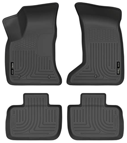 Husky Liners - 98081 Fits 2011-20 Chrysler 300 AWD, 2011-20 Dodge Charger AWD Weatherbeater Front & 2nd Seat Floor Mats Black