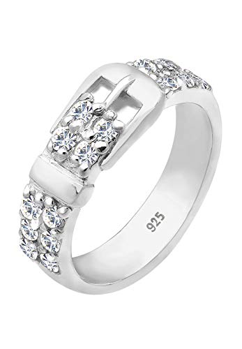 Elli Ring Damen Gürtel mit Swarovski Kristallen in 925 Sterling Silber