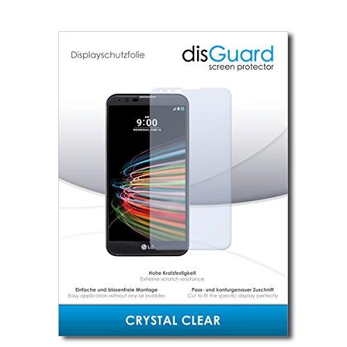 disGuard® Bildschirmschutzfolie [Crystal Clear] kompatibel mit LG X mach [2 Stück] Kristallklar, Transparent, Unsichtbar, Extrem Kratzfest, Anti-Fingerabdruck - Panzerglas Folie, Schutzfolie