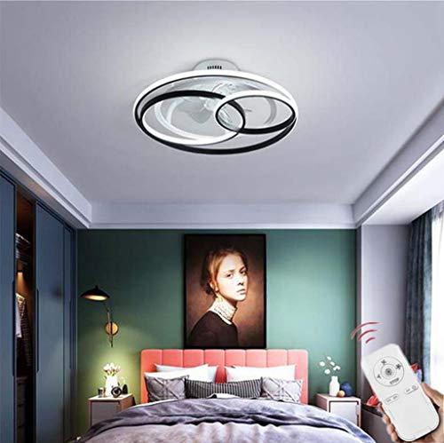 SLZ Deckenventilator Mit Beleuchtung Fan LED Deckenleuchte Fernbedienung Leise Dimmbar Einstellbare Windgeschwindigkeit Deckenlampe Büro Schlafzimmer Wohnzimmer Esszimmer Ventilator Lampe,53cm