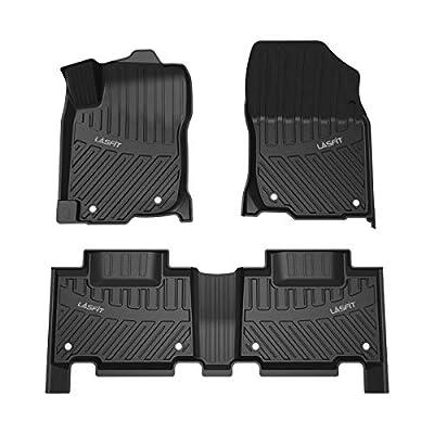 LASFIT Floor Mats for 2013-2018 Toyota RAV4 (Not for Hybrid Model), All Weather Custom Fit TPE Car Floor Liners, Front & Rear, Black