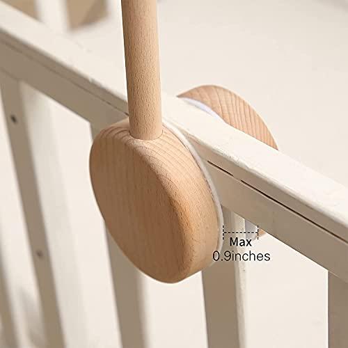 O-Life ベットメリーアーム 木製 ブラケット アーム メリー ベビーモビール ベビーベット 赤ちゃん おもちゃ ベビー 出産祝い ギフト