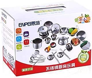 Kitchenware Cookware Cooking Toys 16 Pcs Stainless Steel Pretend Play Kitchen Toys Mini Model Children Kids Pot Pan Brinquedo