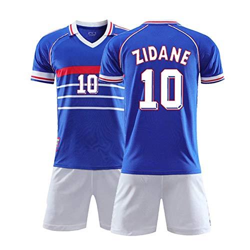XH Zinedine Zidane # 7Jersey Herren Fußball Trikot-Set alle Größen Kinder und Erwachsene (Color : Blue, Size : Adults-Large)