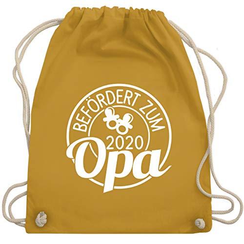 Shirtracer Opa - Befördert zum Opa 2020 Kreis - weiß - Unisize - Senfgelb - WM110_Stoffbeutel - WM110 - Turnbeutel und Stoffbeutel aus Baumwolle