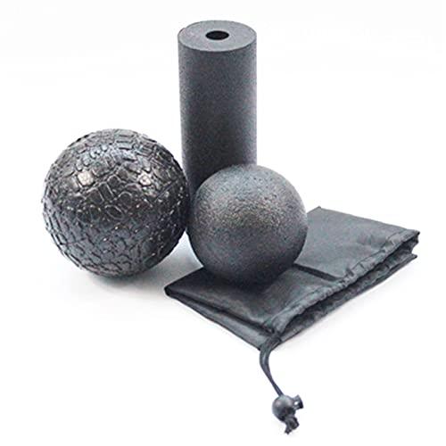 3pcs Yoga Foam Roller Kit Fitness Skum Roller Massage Pilates Kroppsövningar Gym Balansaxelträning...