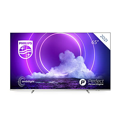 Philips 65PUS9206/12 65 Zoll 4K UHD LED Android Fernseher, 4K Smart TV mit Ambilight, lebendiges HDR-Bild, Dolby Vision- und Atmos-Sound, Alexa + Google Assisant, DTS Play Fi, Schwarz