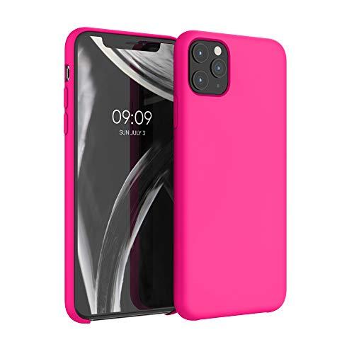 kwmobile Hülle kompatibel mit Apple iPhone 11 Pro Max - Hülle Silikon gummiert - Handyhülle - Handy Hülle in Neon Pink