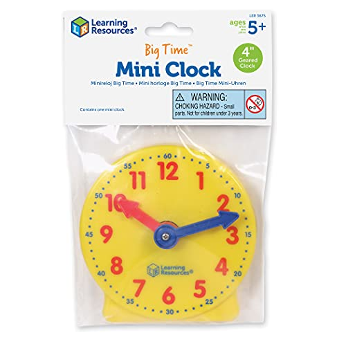 Learning Resources LER3675 Big Time Mini Clock Smart Pack for Individual Maths Learning in Classrooms, Ages 5+