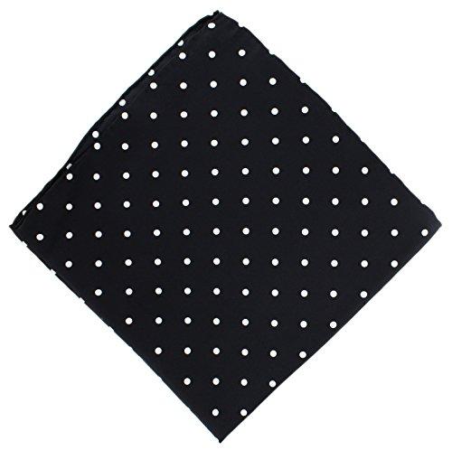 Mouchoir Pois noirs en soie de Michelsons of London