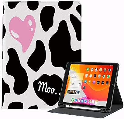 Case for iPad Air 4 2020 10 9 Inch Cow Print Camouflage Hide Pattern in Black White with Cute product image