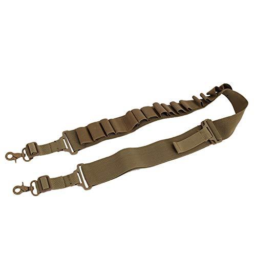 MiOYOOW Cartucho de Escopeta, Cinturón de Cartucho Escopeta Táctica Soporte de Cáscara Estuche de Concha Bolsa de Caza Cinturón de Munición