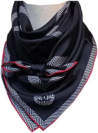 100% silk scarf is suitable for women and men's luxury fashion design, suitable for gifts and various occasions (T19)