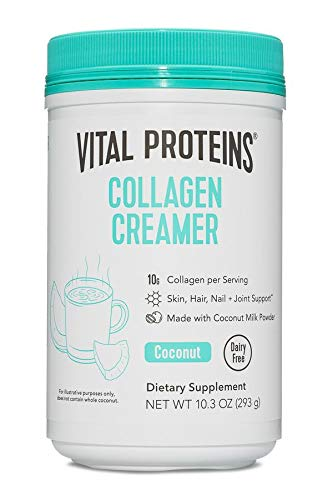Vital Proteins Coffee Creamer [Coconut]. No Dairy Creamer for Coffee Powder with Collagen Peptides, Low Sugar for Supporting Healthy Hair, Skin, Nails - Creamer for Coffee with Energy-boosting MCTs-10.3oz