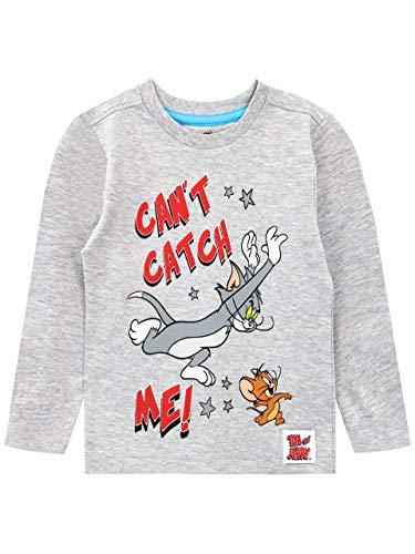 Tom & Jerry Camiseta de Manga Larga para niños Gris 2-3 Años