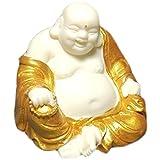 KKUUNXU Decorazione Auto Intaglio in Legno massello Maitreya Buddha Statua Auto Mogano Guanyin Piccoli Pezzi di Artigianato Creativo per Auto