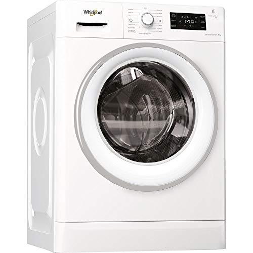Whirlpool FWG 91496WS IT Lavatrice a Carica Frontale a Libera Installazione, A+++ -30%, 9 kg, 20 Programmi, 1400 Giri/Min, Bianco