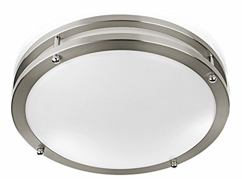 "Modern Flush Mount LED Ceiling Light by Sleeklighting (12"" inch) 15Watt - 1050 Lumens, 3000K Soft White - 50,000 hours Life - Easy to Install - 80% more efficient, Dimmable, UL, ENERGY STAR"