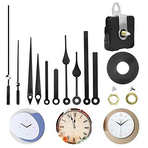 KBNIAN Mecanismo Reloj Silencioso, Mecanismo de Movimiento de Reloj de Cuarzo con 4 Diferentes Pares de Manecillas, Maquinaria para Reloj de Pared a Pilas para DIY Reparación y Reemplazo de Reloj
