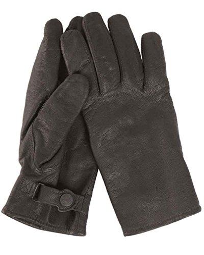 Mil-Tec BW Handschuhe Ziegenleder Gef. schwarz Gr.10