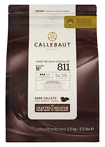 Callebaut Chocolate belga fino Dark Callets 37% de grasa total - 2.5KG, 5.5 lbs