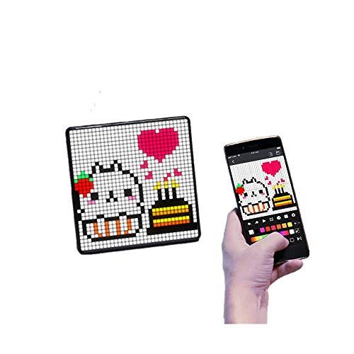 Corlidea - Marco de fotos digital multiusos, 32 x 32 píxeles programables, pantalla LED para habitaciones, decoración de juegos, placa de ventana (negro)