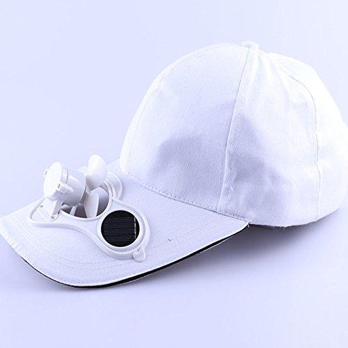 Beautyrain Solar-Fan-Hut, Einstellbar Solarenergie Wandern Angeln Kühl Fan Cap Für Baseball Golf Angeln Sommer im Freien