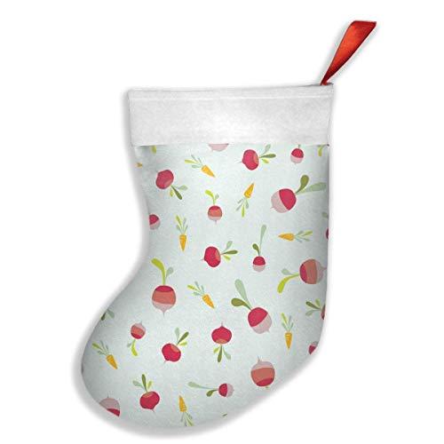 tyui7 Zwiebel und Rettich Weihnachtsstrümpfe Socke personalisierte Geschenk Dekoration für Xmas Party Holiday