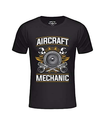T-shirt AC Mechanic zwart, vliegtuigmonteur