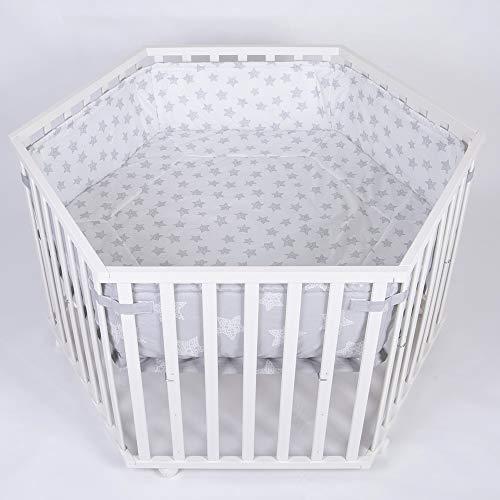 Parc bébé de luxe parc enfant 6 square parc de bebe BLANC 52305W-D01