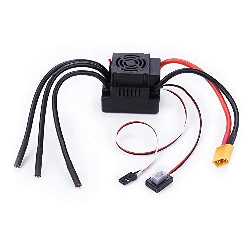 elegantstunning Contrôleur de Vitesse électrique Carte sans Brosse ESC 80A Set 2-4 s 5.8 V / 3a pour Voiture 1/8 1: 8 RC Prise XT60