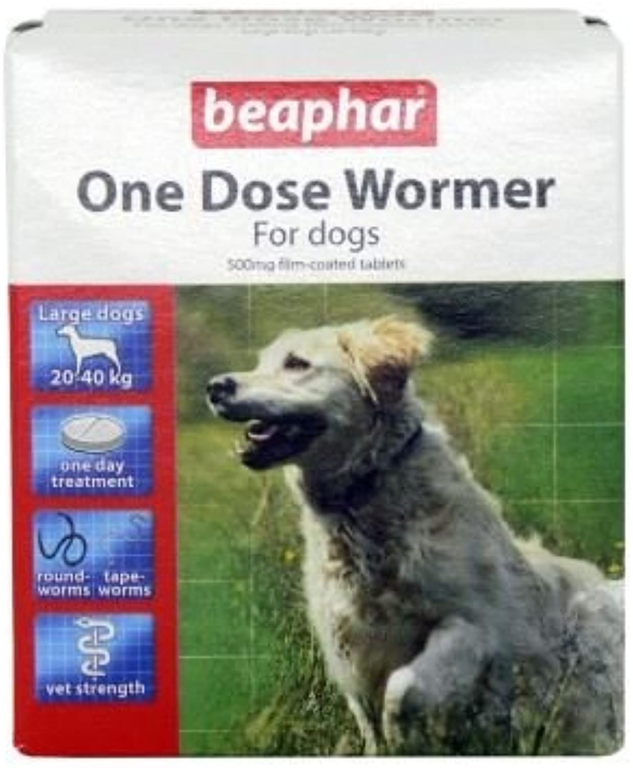 (10 Pack) Beaphar One Dose Wormer per Big Dogs 4 Tabs