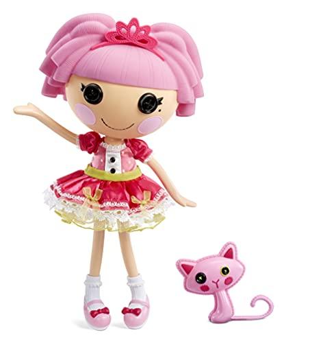 Lalaloopsy Jewel Sparkles 33cm con Gato Persa-Muñeca Princesa con Vestido Rosa y Zapatos Intercambiables-Caja Reutilizable-Edad: 3+ años, Multicolor (576860C3)
