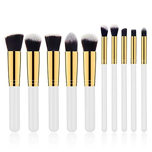 Maquillage Pinceaux, Professionnel 10Pcs 5 Big 5 Petits Ensembles De Maquillage De Maquillage Brosses Outils De Beauté Cosmétiques Pour La Fondation Kabuki Blush À Paupières Correcteur,W1