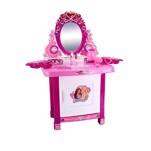 Furniture decoration Children's Dressing Tables Children's Simulation Dresser Play House Toy Girl Jewelry Cosmetics Play House Toy Set Series Children's Table & Chair Sets (Color : Pink Size : 78x3