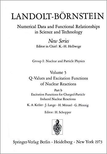 Excitation Functions for Charged-Particle Induced Nuclear Reactions / Anregungsfunktionen für Kernreaktionen mit geladenen Projektilen ... in Science and Technology - New Series, 5b)
