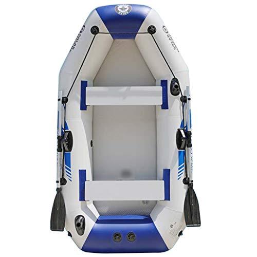 Priority Culture Kayac con Bomba De Pie Kayak Hinchable Portátil Canoa Hinchable Adecuado para Salir Al Mar, Pescar Y Jugar En La Costa. Apto para 3-4 Personas (Color : Blue+Gray)