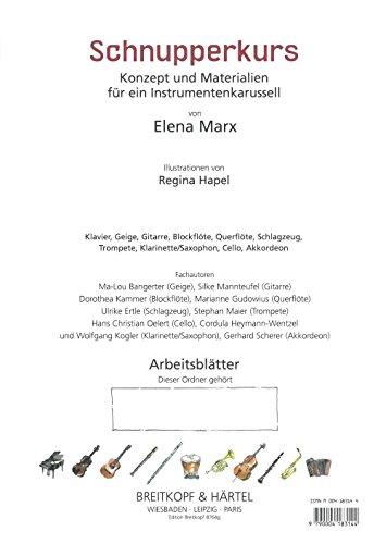 Schnupperkurs Konzept und Materialien für ein Instrumentenkarussell - Arbeitsblätter (Akkordeon) (EB 8764g)