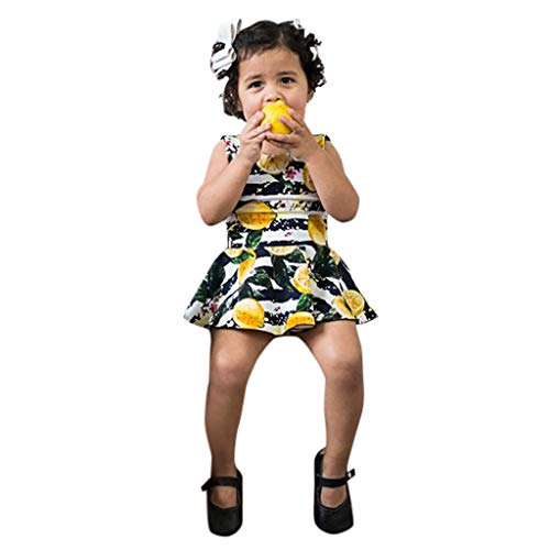 Julhold Sommer Kleinkind Baby Mädchen Mode Freizeit Sleeveless Striped Lemon Print Strampler Kleidung 2019New 0-6 Jahre