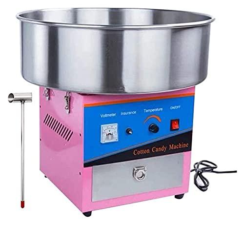 Máquina de algodón de algodón de algodón de algodón de algodón de caramelo rosa Máquina de algodón de acero inoxidable con cucharada de azúcar (Size : 32x32x49cm)