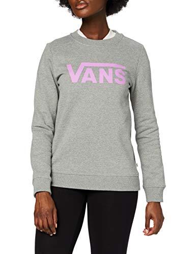 Vans Classic V Crew Sudadera, Cemento Heather, L para Mujer
