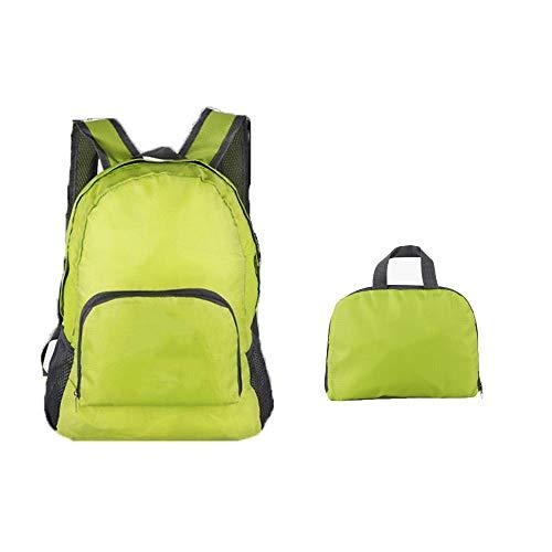 PULABO Ultraleichter Rucksack Faltbarer Rucksack Leichter Rucksack Aufbewahrungsrucksack für Reisen und Outdoor-Sport Grün 1 STÜCK Umweltfreundlich und praktisch Hohe Qualität,Sicherheit