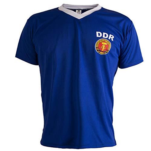 JL Sport De Alemania Oriental RDA 1970 Camiseta De Fútbol para Hombre Retro - L
