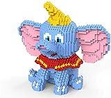 Animales Divertidos Micro Diamond Building Blocks Elephant Puzzle Dumboes Toys (1787Pcs)