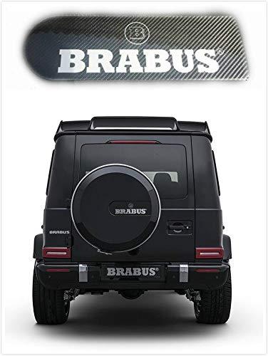 Lolosale Carbon Fiber BRABUS-Style W463 MERCEDES G500 AMG G55 G63 G65 BADGE EMBLEM SPARE TIRE COVER