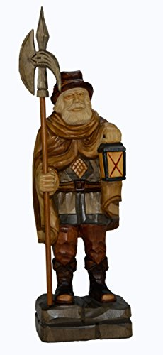 mumba Holzfigur Nachtwächter 48cm handgeschnitzt aus Lindenholz