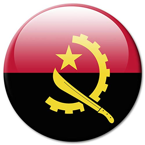 Kühlschrankmagnet Flagge Angola Magnet Länder Flaggen Reise Souvenir für Kühlschrank stark groß 50 mm