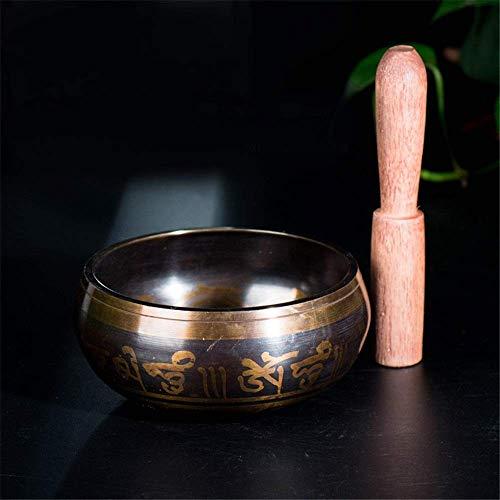 Cuenco tibetano de diseño antiguo hecho a mano hecho a mano, juego de cuenco tibetano para cantar, The for The Buddha Sound Bowl, esterilla de yoga y meditación de descompresión, diseño de equilibri