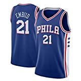 RLZ Jersey Baloncesto Men'Basketball Jersey, Joel Embiid # 21 Baloncesto Uniforme, Camiseta sin Mangas XS-XXL (Color : C, Size : S)